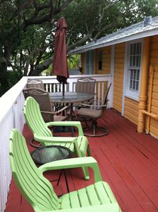 Upstairs cottage deck