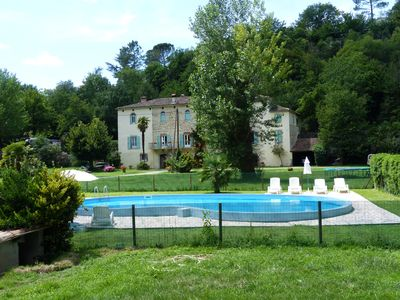 Cottages with pool in a large farmhouse in Anduze in Cevennes