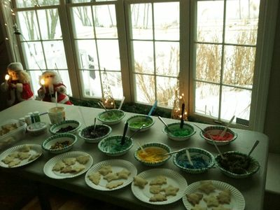 cookie making- plan your Christmas party-reunion here ! (2 DAY RENTALS AVAIABLE )