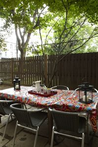 Backyard Bluestone Patio -Table & Chairs For Your Use