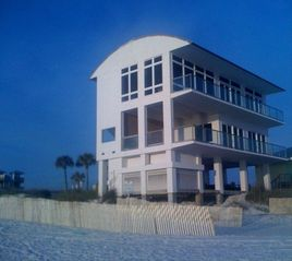 Inlet Beach house photo - View of home looking east. West side has family room and pool. East bedrooms