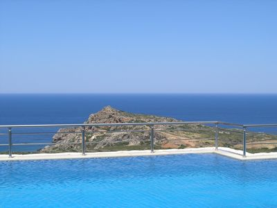 Keramoti villa rental - The endless blue