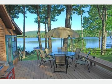 The property has a nice deck and includes a grill and deck furniture