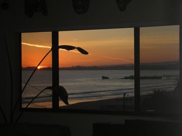 Aptos house rental - Do you love the sunset? It's thrilling right from the living room.