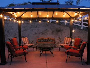 Temecula house rental - Evening relaxing on the back patio, wine in hand...