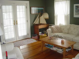 Jamestown (Conanicut Island) house photo - Living Room and Doors to the Side Porch