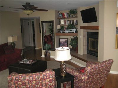 Another view of thecomfortable and cozy living area.