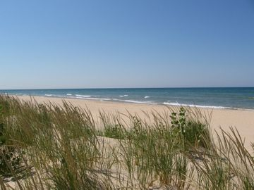 close by: Miles and miles of Lake Michigan Beaches