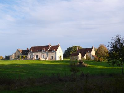 Typical touraine farm in rural surroundings with lake, woods and swimming-pool.