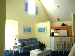 Runaway Beach Resort condo photo - Cathedral ceilings -- bright and open!