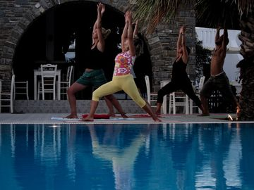 Yoga Retreat Days beside the pool