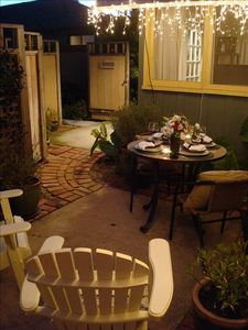 Private patio