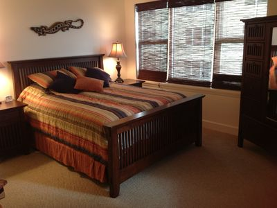 Junior suite with Queen bed and private full bathroom and large walk in shower