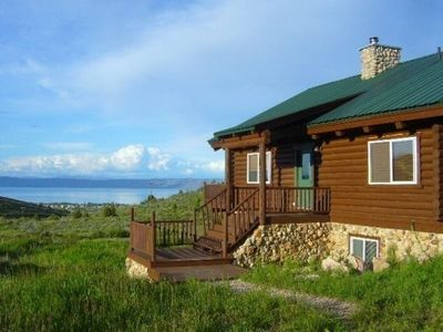 Three Bears Lakeview Cabin has an awesome view of Bear Lake!