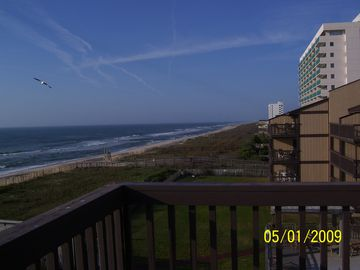 Panoramic views from deck all the way to Kure Beach fishing pier