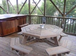 Gazebo with Picnic Table, Hot Tub, Gas Grill