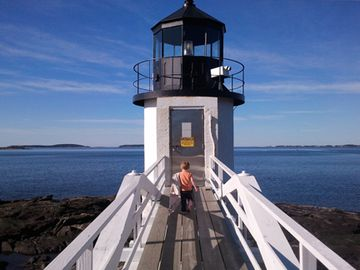 Just a mile away Marshall Point Lighthouse. Run Forrest.