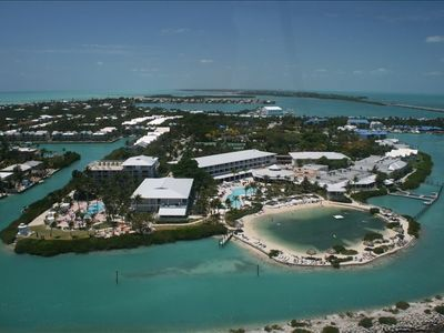 Beautiful Hawk's Cay from Helicopter Tour