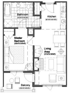 Roomy Suite Layout
