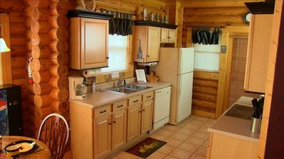 A full kitchen with all of the amenities.  Completely equipped with all utensils