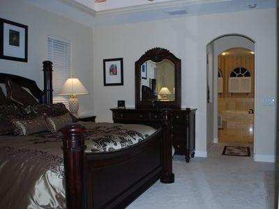 Luxury custom king bed in Master Bedroom