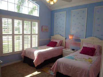 Princess room with lavish Disney furnishings