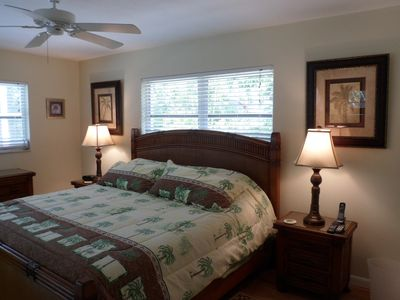 .Yes, a high end tropical King bedroom set in the Guest Bedroom with pool view!