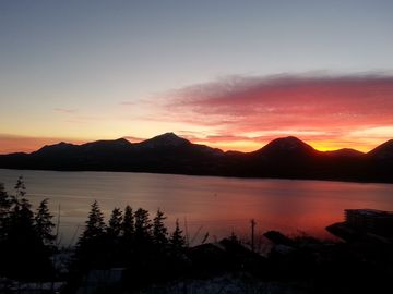 Ketchikan apartment rental - Watch a beautiful sunset from the comfort of your home away from home