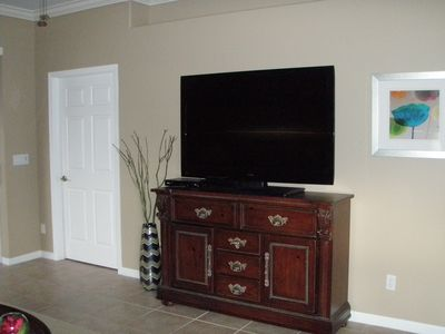 "Living Room 55"" HDTV with DVD player"