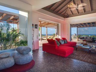 St Barthelemy villa photo - Villa Imagine - Sitting Room with Stunning Sea Views