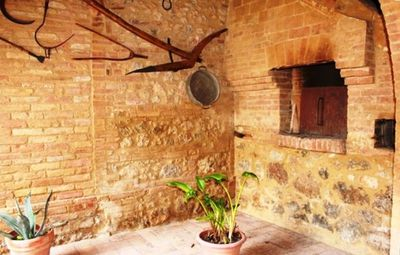 The ancient wood oven in the back patio: ideal for your bread and Pizza making