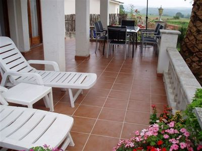 Figueres area bungalow rental - The patio