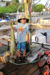 Catch of the day at Capt. Scuba and Capt. Smiley's dock, 11th Street, SW. - Spanish Wells villa vacation rental photo