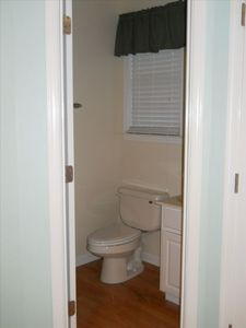 Clammers Cove Ocean City townhome rental - Main level powder room