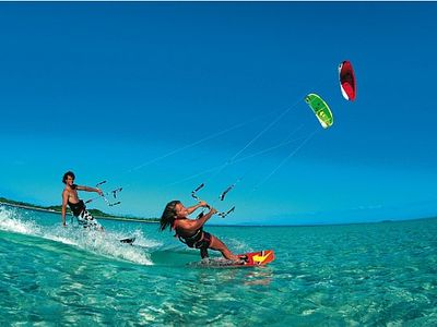 Kite surfing, amongst all the other water-sports, is very popular and nearby.