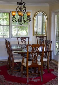 Dining area off the kitchen thru to the screened porch