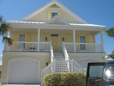 Front View Bermuda Style home