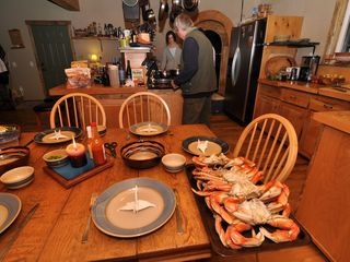 Coos Bay house photo - Fresh crabs for dinner