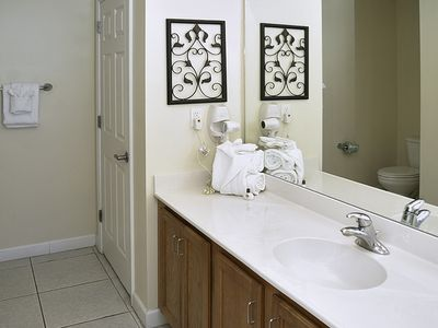 Sterling Reef Resort condo rental - Master Bath with tub and shower!