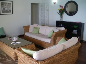 The sitting room of the Sea Front Apt