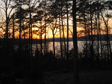 Greers Ferry Lake house rental - Sunset from the Deck