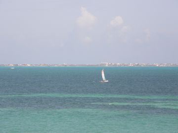View of Isla Mujeres from our beach