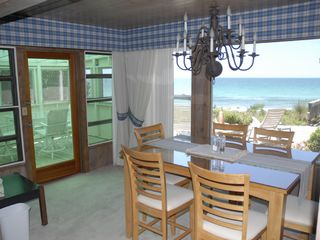Siesta Key house photo - Dining room and screen porch on ocean with views extending to forever...