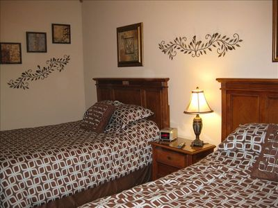 Second Bedroom includes 1 queen bed and 1 full bed and separate bath