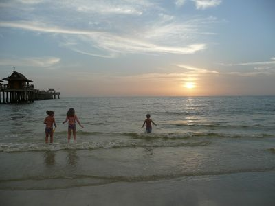 Spend an evening at Naples beach during sunset