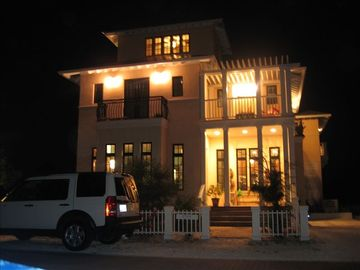 Nighttime View of House