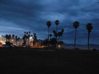 Santa Barbara house photo - View toward City College from Leadbetter Beach on a cloudy evening.