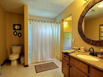 1 of 4 full bathrooms.  Rest can be viewed on virtual tour