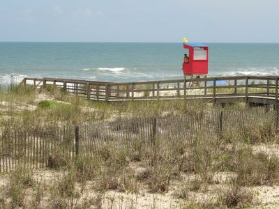 The lifeguard stand is a part of the Town's lifeguard program in the summer