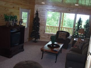 Lake Nantahala lodge photo - Sitting Room in lower level